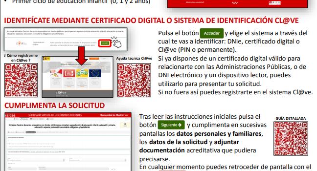 Uso de la Secretaría Virtual para la presentación de solicitudes de admisión