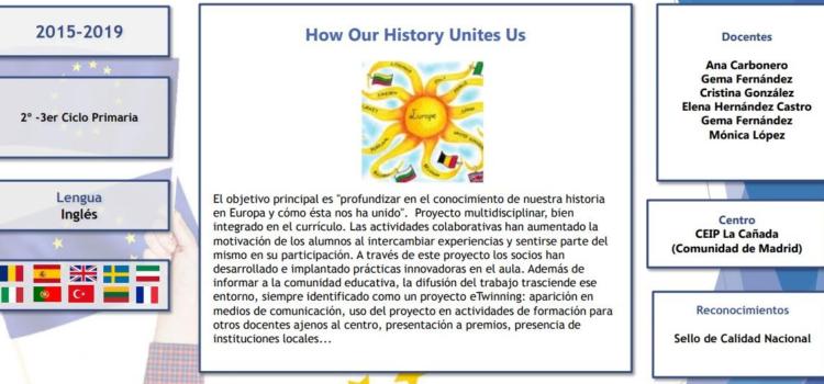 """ÉXITO DE NUESTRO PROYECTO ERASMUS+  """"HOW OUR HISTORY UNITES US"""" 2016-2019"""